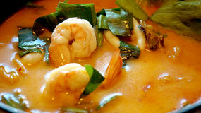 Tom yum kung soup, delicious Thai food Royalty Free Stock Image