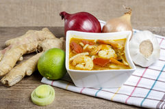 Tom yum kung Thai hot and sour soup Stock Photo