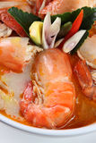 Tom Yum Kung Thai popular menu Stock Image