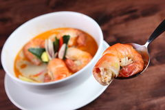 Tom Yum Kung Thai popular menu Royalty Free Stock Image