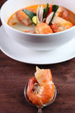 Tom Yum Kung Thai popular menu Stock Photography