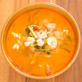 Tom Yum Kung thai spicy seafood soup Royalty Free Stock Photography