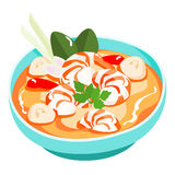 Tom yum kung Thai spicy soup  Royalty Free Stock Photos