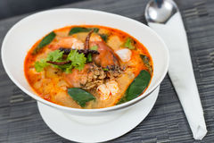 Tom Yum Kung. Thai spicy and sour soup.It has been popularised around the world Royalty Free Stock Image