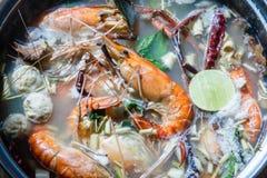 Tom Yum Kung, um alimento tailandês popular fotos de stock