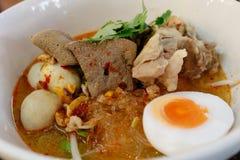 Tom Yum Noodle royalty-vrije stock foto's