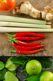 Tom Yum Recipe Stock Photo