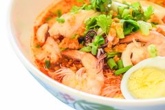 Tom Yum Seafood Noodle Soup foto de stock royalty free