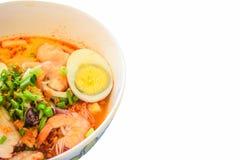 Tom Yum Seafood Noodle Soup Fotografía de archivo libre de regalías