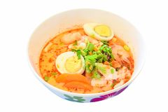 Tom Yum Seafood Noodle Soup Stockbilder