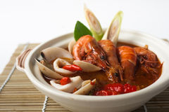 Tom yum seafood soup Royalty Free Stock Images