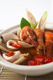 Tom yum seafood soup Stock Images