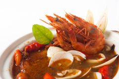 Tom yum seafood soup Stock Image