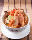 Tom Yum seafood soup ,Thai food Royalty Free Stock Images