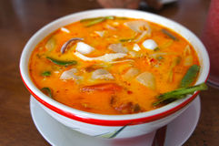 Tom Yum Soup, comida tailandesa Imagenes de archivo