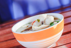 Tom yum soup with fish Royalty Free Stock Photos