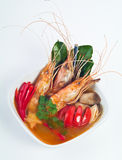 Tom Yum soup with prawn and mushroom Thai food Stock Image