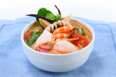 Tom Yum Soup, seafood Stock Photos