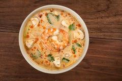 Tom Yum Soup With Shrimp tailandés imagen de archivo