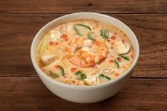 Tom Yum Soup With Shrimp tailandés foto de archivo