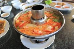 Tom Yum Soup skaldjur Fotografering för Bildbyråer
