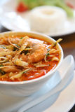 Tom Yum soup , a Thai traditional spicy prawn soup Stock Images