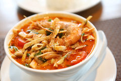 Tom Yum soup , a Thai traditional spicy prawn soup Stock Photography