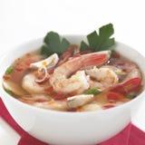 Tom Yum Soup thailändsk mat Arkivbilder