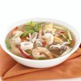 Tom Yum Soup thailändsk mat Arkivfoto