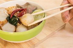 Tom Yum Spicy Soup Noodle : Thai Food Stock Images