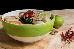 Thai Tom Yum Spicy Soup Noodle  Stock Image