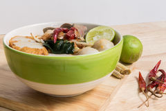 Tom Yum Spicy Soup Noodle : Thai Food Stock Image