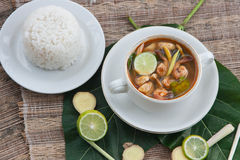 Tom yum with srimps Royalty Free Stock Photo