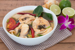 Tom Yum striped snakehead fish. Thai Food Royalty Free Stock Image