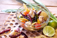 Tom zap in Thailand. Chicken Hot and Spicy soup in Thailand Royalty Free Stock Photos