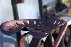 Toma abstracta en asiento de la maquinaria agrícola del vintage foto de archivo libre de regalías