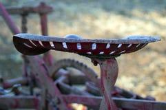 Toma abstracta en asiento de la maquinaria agrícola del vintage fotografía de archivo libre de regalías