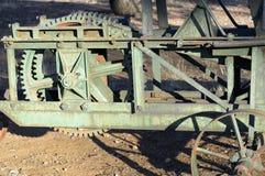 Toma abstracta en la maquinaria agrícola del vintage fotos de archivo