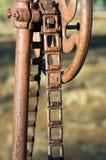 Toma abstracta en la maquinaria agrícola del vintage foto de archivo