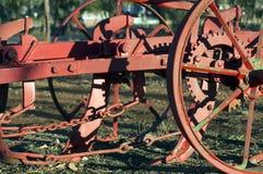 Toma abstracta en la maquinaria agrícola del vintage imagen de archivo