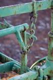 Toma abstracta en la maquinaria agrícola del vintage fotografía de archivo
