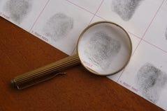 Toma as impressões digitais o exame Fotos de Stock