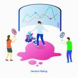 Toma de decisión del ejemplo stock de ilustración