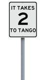 Toma dois ao tango Foto de Stock Royalty Free