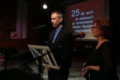 Toma Enache und Aurica Piha Lizenzfreie Stockfotografie