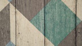 Toma panorámica del fondo para su texto Pared de tablones de madera con el modelo geométrico metrajes