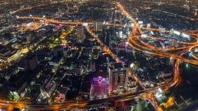 Toma panorámica del lapso de tiempo del paisaje urbano de Bangkok almacen de video