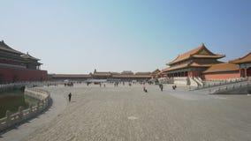toma panorámica 4k tirada de la ciudad Prohibida en Pekín metrajes