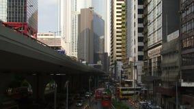 Toma panorámica tirada de Hong Kong Street almacen de video
