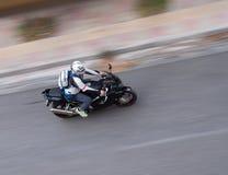 Toma panorámica de la moto Imagenes de archivo